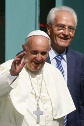 Papa Francesco e Giovanni Traettino.