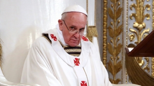 Pope Francis Attends Mass For The Possession Of Saint Paul Basilica