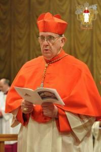 Il cardinale Jorge Mario Bergoglio durante il conclave del 2013.