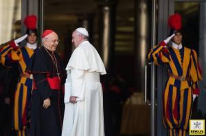 Papa Francesco e il card. Baldisseri