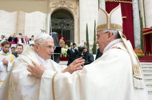 Popes John Paul II and John XXIII's canonization mass
