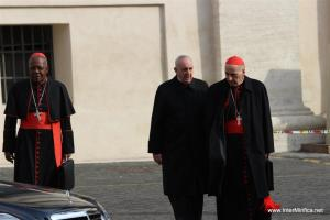 The College of Cardinals meeting for their formal pre-conclave meetings. 5 March 2013.
