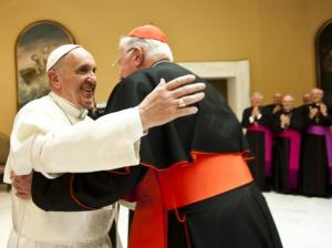 Pope Francis with Cardinal Cormac-Murphy O'Connor