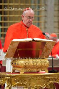 Conclave 2013: il giuramento del cardinale Bergoglio.