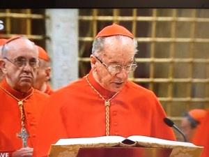 I cardinali Hummer e Bergoglio, il gatto e la volpe, al conclave del 2013.
