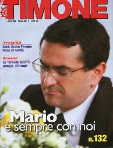 """Copertina de """"Il Timone"""" dedicata al compianto Mario Palmaro."""