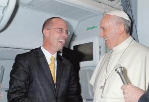 John Allen Jr. con papa Francesco