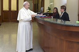 Le pape François à la résidence Santa Marta - Vatican