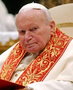 """San Giovanni Paolo II, il """"papa della famiglia""""."""