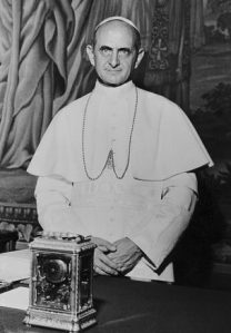 Pope Paul VI In His Office At Vatican