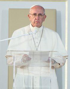 Papa Francesco alla GMG 2016.