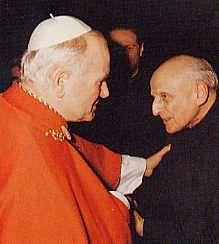 Giovanni Paolo II e Pedro Arrupe.
