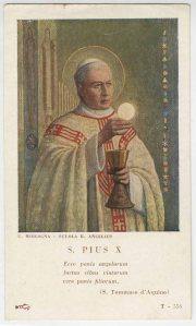 Immaginetta di San Pio X