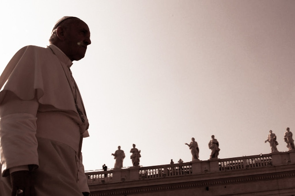 VATICAN CITY, VATICAN - SEPTEMBER 14:  Pope Francis attends his weekly audience in St. Peter's Square on September 14, 2016 in Vatican City, Vatican. Pope Francis on Wednesday morning celebrated Mass for the French priest of Rouen, Fr. Jacques Hamel, whom he described, is part of the chain of Christian martyrs that runs throughout the history of the Church. Father Hamel was murdered while celebrating Mass in his Parish Church by two men swearing allegiance to the so-called Islamic State in July.  (Photo by Franco Origlia/Getty Images)