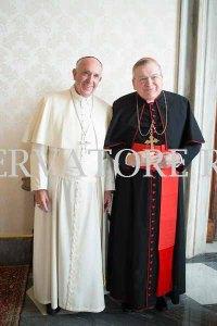 Il 10 novembre 2016 papa Francesco ha ricevuto il card. Burke nel palazzo apostolico.