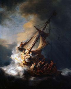 """Rembrandt van Rijn, """"Cristo nella tempesta sul mare di Galilea"""", 1633."""