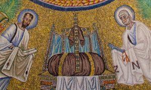 Dettaglio del battistero ariano di Ravenna.