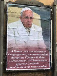 Affisso sui muri di Roma nella notte tra il 3 e il 4 febbraio 2017.