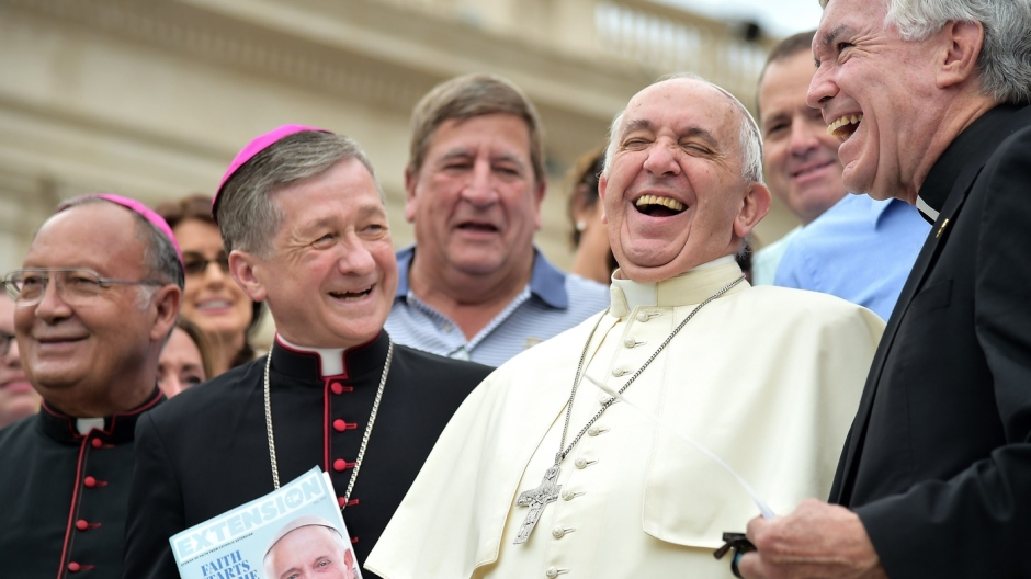 Among bishops and priests, Pope Francis is in familiar — and lighthearted — territory. But among non-Catholics in the U.S., the pope's comments have also generated significant enthusi