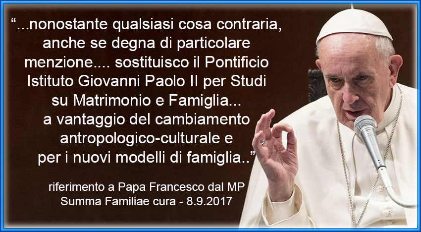 "A colpi di motu propri papa Francesco legittima la ""sua Chiesa"""