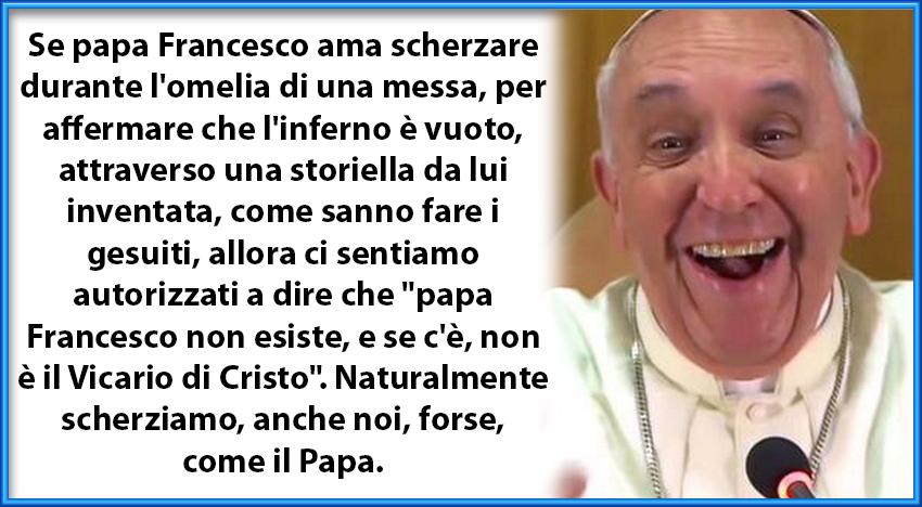 """Caro papa Francesco, non """"svuotare"""" l'inferno come alcuni tuoi confratelli…"""