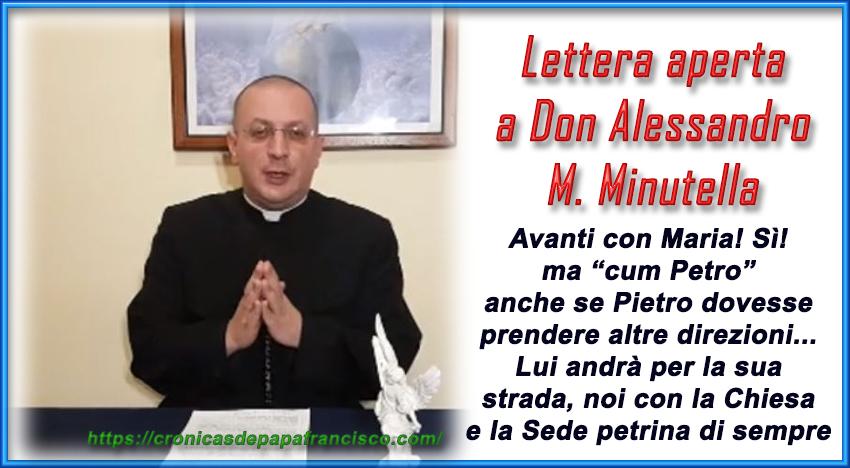 Lettera aperta a Don Alessandro Maria Minutella
