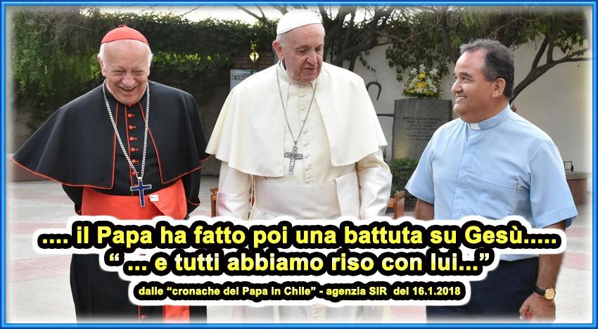 Papa Francesco fa una battuta su Gesù e tutti ridono con lui