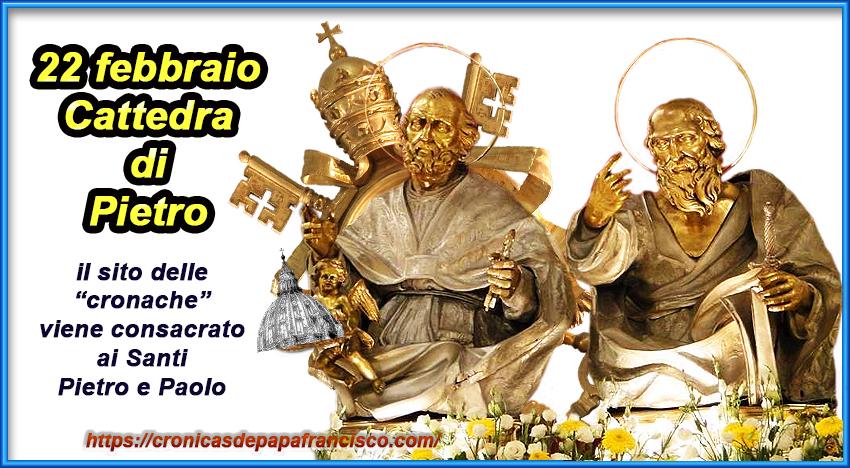 Consacrazione del sito ai Santi Pietro e Paolo