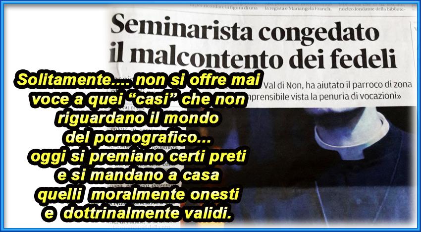 """Trento, cacciati in cinque anni i seminaristi """"troppo"""" cattolici"""