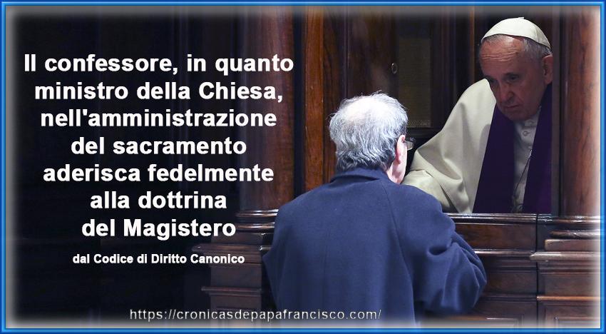 Lo sbaglio di papa Francesco nel concetto della Confessione