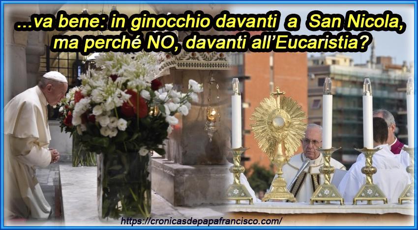 Francesco prostrato davanti san Nicola ma non davanti a Gesù