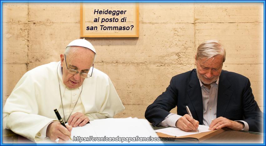 Bergoglio telefona a Vattimo: Heidegger al posto di d'Aquino?