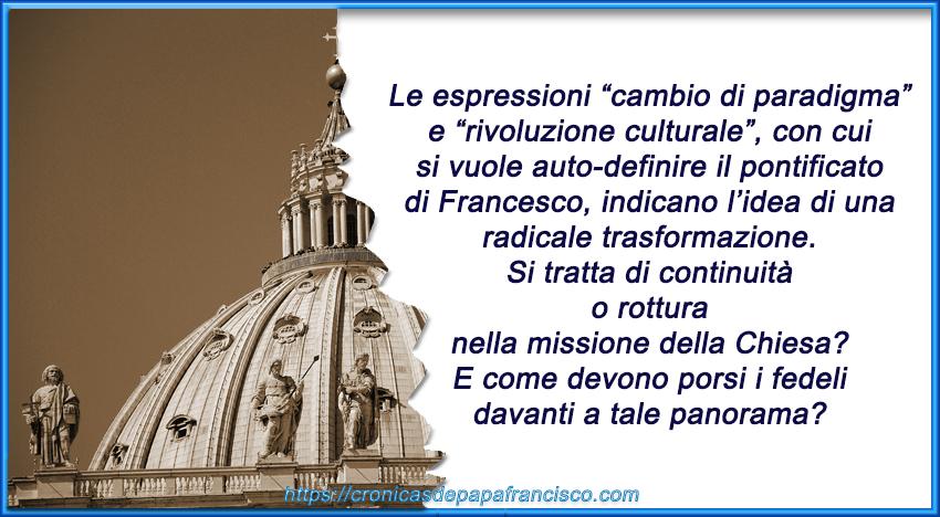 EVENTO: Continuità o rottura nella missione della Chiesa? 29 novembre