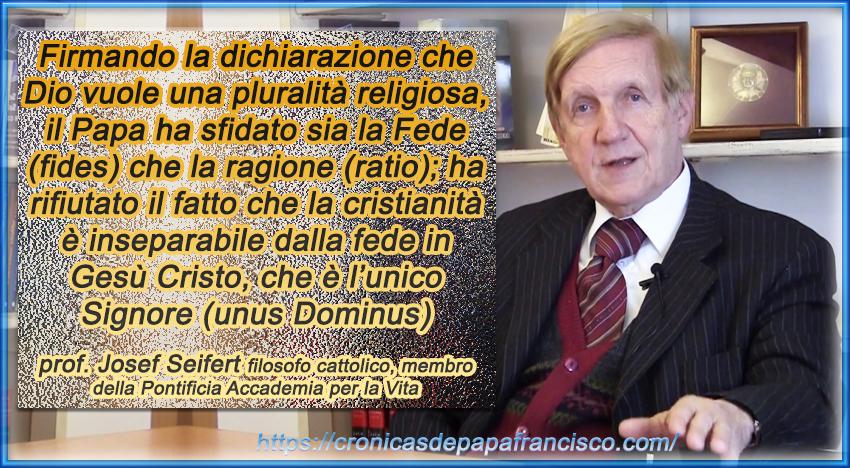 Continuano preoccupazioni documento firmato dal Papa