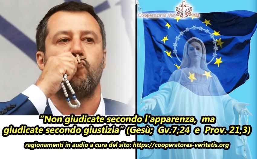 Reti unificate: il Discorso di Salvini e quell'affidamento a Maria con il Rosario