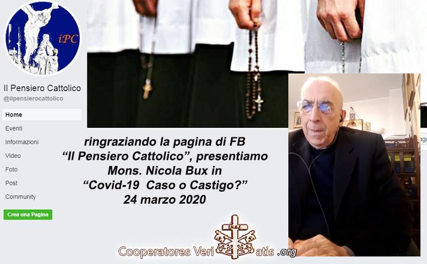 Mons. Nicola Bux: Covid-19 Caso o Castigo?