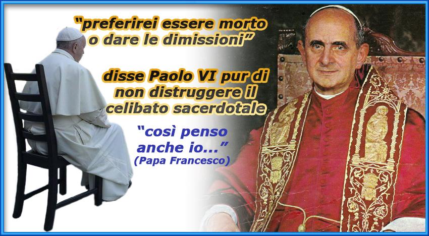 """Papa Francesco non vuole il Clero sposato: """"Io penso lo stesso di S. Paolo VI"""" – e cosa diceva Paolo VI?"""