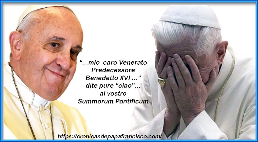 A-Dio Summorum Pontificum: il moto è più veloce verso lafine…